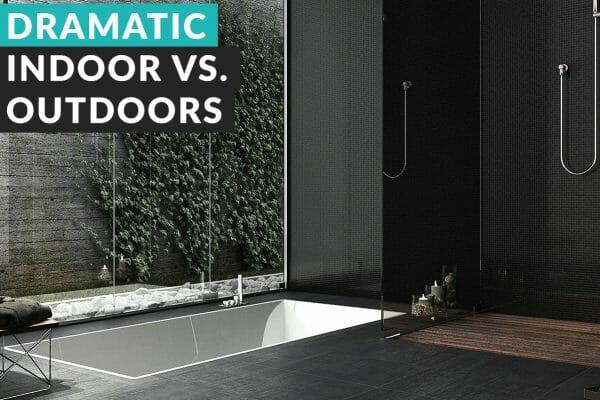dark trend indoor-and-outdoor-bathroom