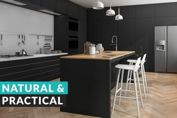 dark trend wood-and-black-kitchen