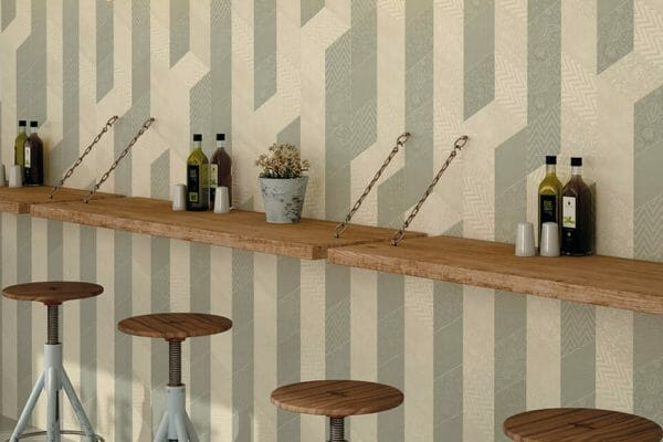 Creating unique tile arrangements to draw attention to areas