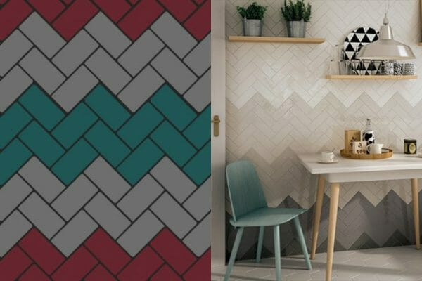 Here we're featuring our stunning Provence range, the beautiful selection of colours we offer means you can create a unique herringbone pattern in your home.