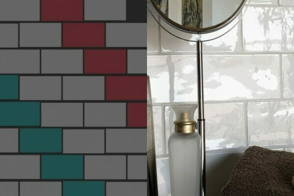 A pattern often used to portray metro tiles, this gorgeous small format brick bond tile pattern is perfect.
